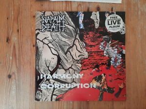 NAPALM DEATH - Harmony Corruption,Earache MOSH 19,2LP,1990