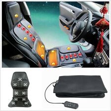 Black Car/Office Heat Seat /Cushion Massage Neck Pain Lumbar Back Massager 12V