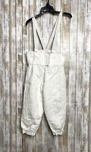 Blue Gauntlet Fencing White Pants Size 32