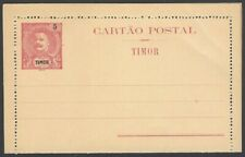 Timor 5a red King Carlos lettercard unused