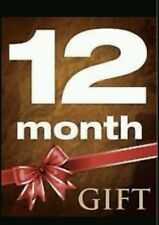 12 MONTH GIFT WARRANTY SKYBOX F5S F3S OPENBOX,V5S V8S AMIKO ZGEMMA BLADE VU DUO