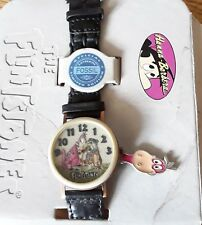 The Flintstones Fossil Watch and Pin set With Dino & Fred Working Limited Ed