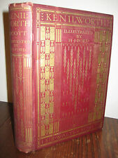 KENILWORTH Sir Walter Scott RARE Illustrated H.J. Ford CLASSIC Antique