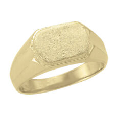 10k Yellow Gold Square Top Signet Ring, Sz 9.5 (NEW band, 7.00g) 2043