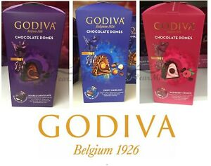 Godiva Chocolate Domes Double Chocolate / Crispy Hazelnut Chocolate 150g