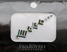 Bindi bijoux piel boda frente strass cristal de Swarovski verde INHC 3611