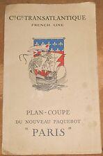 Plan-Coupe du Nouveau Paquebot « Paris »