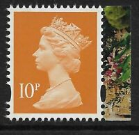 GB 2014 U3074 10p litho 2 bands M14L MPIL Buckingham booklet stamp MNH ex U3013