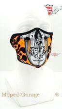 Biker Maske Burnin Skull maske Motorrad Bikermaske Streetfighter für Jet Helm