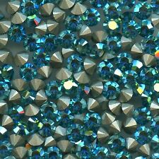 1028 SS24 ZX *** 12 Strass Swarovski FOND CONIQUE 5,3mm BLUE ZIRCON AB