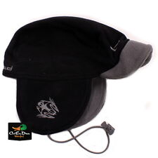 "NEW BANDED GEAR UFS FLEECE BRIMMED BEANIE HAT CAP ""b"" LOGO BLACK"