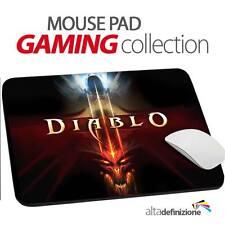 TAPPETINO MOUSE PAD Gaming 20x24 cm ANTISCIVOLO Diablo III 3 PC
