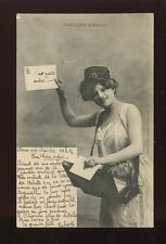 France Mail Messagere d'Amour Post glamour Lady French 1902 u/b PPC