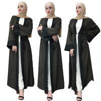 Ramadan Abaya Dubai Kaftan Muslim Abaya Kimono Open Long Dress Islam Jilbab Robe