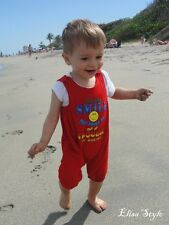 "Adorable red boy's Romper every day ""say it with love"" 12-18 Months"