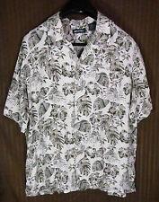 Puritan Men's Shirt Size XL Hawaiian Button Front Short Sleeve Floral Pattern