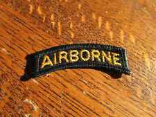 US ARMY MILITARY Airborne TAB  Yellow on black SSI INSIGNIA