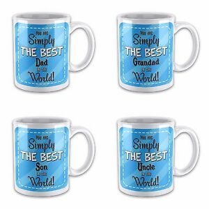 You Are Simply The Best In The World Novelty Gift Mug - Blue Relation Titles
