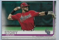 2019 Topps Series 2 Baseball Short Print Variation Trevor Story #460 Colorado