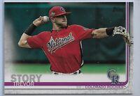 2019 Topps Series 2 Baseball Short Print Variation Trevor Story #460 Colorado