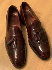 ☀️ CHURCHS CORDOVAN WINGTIP TASSEL LOAFERS BROGUES MEN'S SIZE 11.5 D ENGLAND