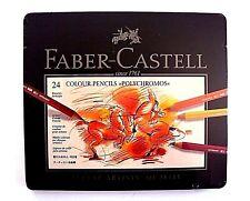 Faber Castell 24 Polychromos Buntstifte im Metalletui.