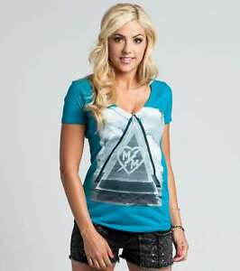 Metal Mulisha Desert Night V-neck T-shirt S/S Top /  ladies M157S18114 SALE