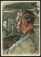 Artist Signed WOLFGANG WILLRICH  15  GERMANY  THIRD REICH  MILITARY  Postcard