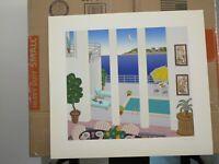 "THOMAS McKNIGHT ""ATLANTIC POOL"" Four Seas Hand SIGNED Original Serigraph 1990"