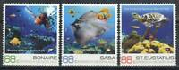 Caribbean Netherlands Stamp - Fish, marine life, turtle Stamp - NH