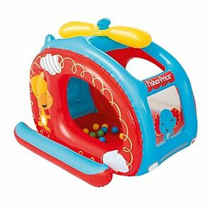 Bestway Fisher Price Children's Inflatable Helicopter Ball Pit Includes 25 Balls