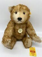 """VINTAGE Steiff Teddy Bear 000966 18"""" Classic Petsy  Mohair Growler Germany 🇩🇪"""
