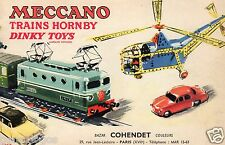 ORIGINAL CATALOGUE 1957 MECCANO TRAINS HORNBY DINKY TOYS 1/43 30 PAGES + TARIFS