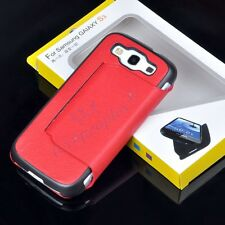 New Red PU Leather Side Flip Stand Case Cover For Samsung Galaxy S 3 III I9300