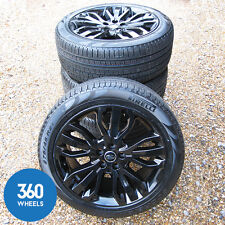 "NEW GENUINE RANGE ROVER SPORT L494 L320 21"" BLACK STYLE 19 15 ALLOY WHEELS TYRES"