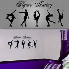"Figure Skating Wall Decal, Girls Wall Decor, Figure Skating Sticker - 48"" x 22"""