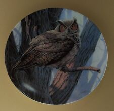 The Majestic Birds Plate Great Horned Owl #3 Third Issue Birds of Prey
