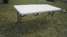 CLEARANCE - 156cm Outdoor Portable Folding Trestle Table $59
