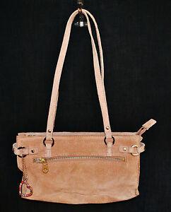 VTG 80s CHIC Wilson Leather Maxima Suede BoHo Baguette Shoulder Purse Hand Bag
