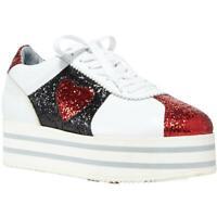 Chiara Ferragni Womens White Platform Sneakers Shoes 35 Medium (B,M) BHFO 5521