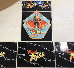 Arcade1up Cabinet Riser Graphics - Final Fight Graphic Sticker Decal Set