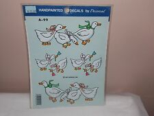 Vtg 1989 Decoral Handpainted Waterslide Decals Fancy Ducks  A-99 New Old Stock