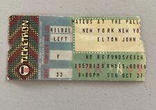 ELTON JOHN RARE CONCERT TICKET STUB THE PALLADIUM NEW YORK CITY 10/21/1979
