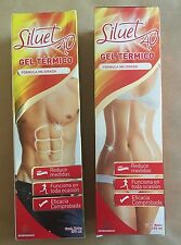2-Pack Siluet 40 GEL TERMICO Helps Disolve Body Fat & Prevents Re-Acumulation!!