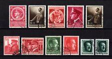 E622-GERMAN EMPIRE-Third reich.1938-44.WW2.Deutsches reich ADOLF HITLER Lot USED