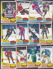 1980 - 81 OPC SET Lot of 12 NHL ALL STARS NM o-pee-chee GRETZKY DIONNE LaFLEUR