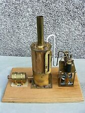 LIVE STEAM STATIONARY ENGINE MARINE VERTICAL BOILER KRICK