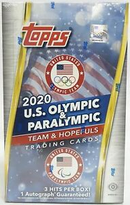 2021 TOPPS US OLYMPICS & PARALYMPIC - FACTORY SEALED HOBBY BOX - FREE S/H - QTY