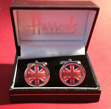 TRIUMPH MOTORCYCLES HIGH QUALITY GOLD & SILVER PLATED CUFF LINKS, BOXED