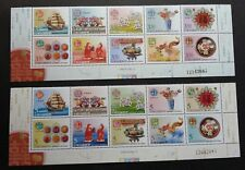 Personal Greeting Everlasting Wealth Taiwan 2004 Food Dragon (stamp pair) MNH